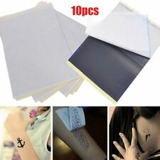 10Pcs Tattoo Transfer Copier Paper Spirit Stencil Carbon Thermal Tracing Body