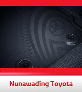 NEW GENUINE TOYOTA COROLLA HATCH REAR RUBBER FLOOR MATS AUG 2012 - CURRENT