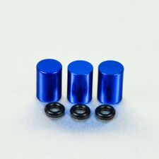 Pro-Bolt Aluminium Bleed Nipple Cover 7mm Pack x 3 - Blue Yamaha YZF-R125 08+
