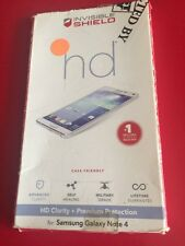 ZAGG - InvisibleShield HD Screen Protector for Samsung Galaxy Note 4 Cell Phones