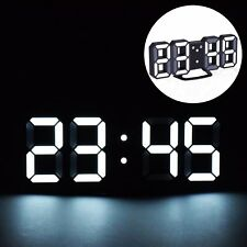 EVILTO LED Digital Alarm Clock with Night Light, 3D Number Style Modern Wall/Mou