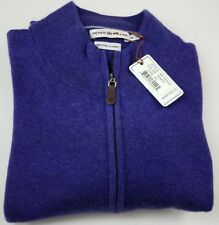 Peter Millar 100% Pure Cashmere Half Zip Crew Neck Blue Sweater XL NWT $325