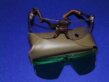 AMERICAN OPTICAL CLEAR SAFETY GLASSES & REMOVABLE GREEN LASER LENS  NEW FREE S&H