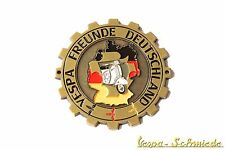 "METALLO-PLACCA ""VESPA amici Germania"" - GERMANY VCD emblema email Club Club"