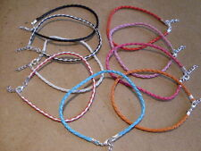 braided leather anklet