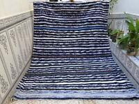 moroccan vintage handmade rug azilal carpet beni ourain berber rug 6.56 x 9.05