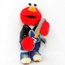 "Fisher Price Rock and Roll Elmo Plush Sesame Street Monster Muppet 9"" Long"