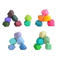 Silicone Colored Stacking Balancing Stone Building Blocks Baby Educational Toys