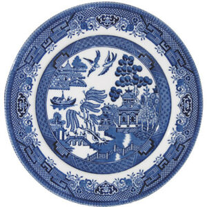 Blue Willow Plate - Churchill China Blue Willow Mint 17cm/6 Inch Side Plate
