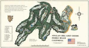 Golf Decor Wall Art Spyglass Hill Golf Course Poster Print Decorations Office