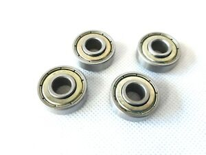 4 Pieces Wheelchair Front Caster Wheel Bearings 608ZZ