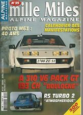 MILLE MILES N° 35 MARS/AVRIL 2003 : ALPINE 310V6 PACK GT BOULOGNE PROTO M63