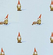Heather Ross Lightning Bugs Gnomes Gnome Sky Blue OOP HTF Fabric HALF YARD