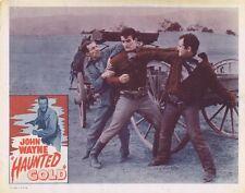 HAUNTED GOLD - R56 - FOUR (4) Orig 11x14 Lobby Cards - JOHN WAYNE