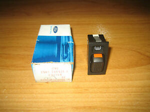 NOS Ford 1985 Merkur XR4Ti Rear Window Heater Defroster Switch