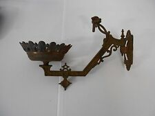 ANTIQUE VINTAGE WALL MOUNT HOLDER FOR KEROSENE LAMP VERY ORNATE