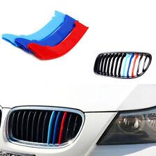 Car M Color Kidney Grille Stripe Cover Decor For BMW 3 Series E90 E91 LCI 09-12
