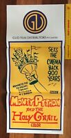 1975 ORIGINAL DAYBILL MOVIE POSTER MONTY PYTHON & THE HOLY GRAIL AUSSIE EXC!!!