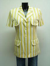Escada blazer GR 36/amarillo a rayas & 100% algodón (n 4938)