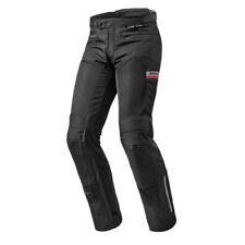 Pantaloni zip completi neri per motociclista uomo