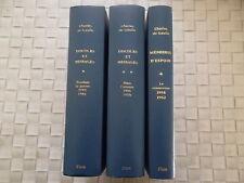 CHARLES DE GAULLE DISCOURS ET MESSAGES EN 3 VOLUMES