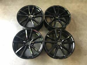 "18"" VW Golf R Pretoria Style Alloy Wheels Gloss Black Golf MK5 MK6 MK7 MK7.5"