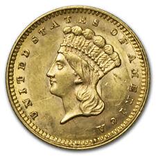 1862 $1 Indian Head Gold AU Details (Scratched) - SKU#30480