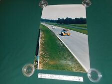 "Vintage Large 16"" x 24"" Photograph of N.A.R.T. # 4 and # 11 Formula 1 Race Cars"