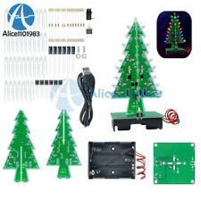 3D Xmas Tree Diy Kits Flash LED Circuit Christmas Trees LED 7 Color Light
