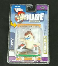 E2 TECH DECK DUDE EVOLUTION Crew SERIES 1 Cards, Rusty #028, Skateboard Magnetic