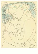 Pablo Picasso MATERNITY 1963 Vintage POSTCARD Paint Offset Printed France 1992