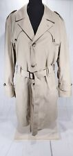 Vintage Botany 500 Mens Belted Trench Coat Overcoat Removable Wool Lining Sz 42L