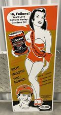 New ListingVintage Porcelain Harley Davidson Oil Can 24� Gas And Oil Sign