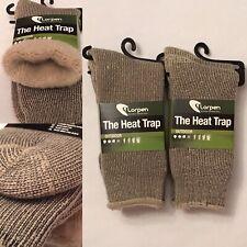 2 Pair Lorpen The Heat Trap Men's 7 - 9 Womens 9 - 11 Fleece Lined Thermal Socks