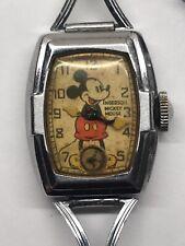 Original 1937 Ingersoll Mickey Mouse Wrist Watch Deluxe 30s