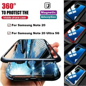 For Samsung Note 20 20 Ultra 5G 360° Full Cover Magnetic Absorption Metal Case