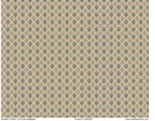"""0000779 1:24 or 1//2/"""" Scale Dollhouse Miniature Wallpaper Beige Floral 3 Sheets"""