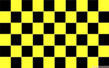 BLACK AND & YELLOW CHECKERED 5x3 feet FLAG 150cm x 90cm Polyester fabric flags