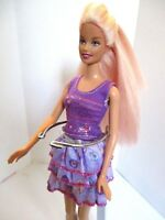 ORIGINAL BARBIE DOLL LONG BLONDE HAIR PINK HIGHLIGHTS SKIRT TOP & extra DRESS
