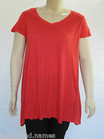 Autograph Ladies Cap Sleeve Swing Top sizes 16 18 20 Colour Orange