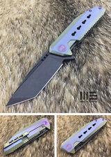 WE Knife 602B Tanto S35VN Titanium Frame Lock Folding Knife