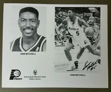 Sam Mitchell #5 Autographed signed Indiana Pacers NBA 8x10