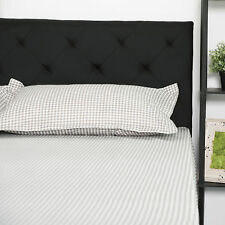 Queen Size Upholstered Headboard Fabric Diamond Pattern for Bedroom.
