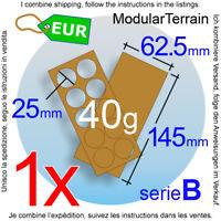 1x MDF Movement Tray 2x5 5x2 (B 2.5mm) 25mm Round Base Bandeja War Hammer 40k