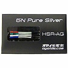 Oyaide 5N Pure Silver Headshell Leads HSR-AG / JAPAN / AIRMAIL with TRACKING