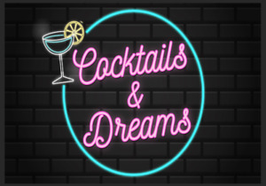 Cocktails & Dreams Neon Style Metal Sign Man Cave Bar Pub Party Shed Drink