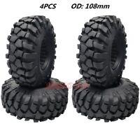 4Pcs RC Truck Rock Crawler 1.9 Tires 108mm Tyre W/ Foam For Axial SCX10 TRX-4