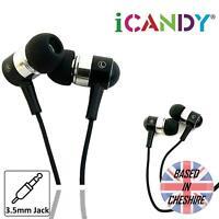 iCandy In-Ear Earphones Super Bass Headphone for iPhone iPad Samsung 3.5mm Black
