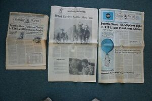 Seattle Slew Kentucky Derby & Preakness Daily Racing Forms +Louisville Newspaper