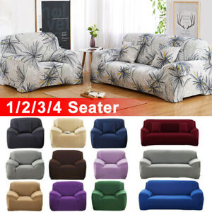 1-4 Seater Elastic Sofa Covers Slipcover Settee Stretch Floral Couch Protector